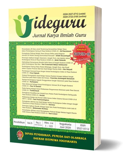 Vol 5 No 1 2020 Edisi Khusus Kbm Pandemi Covid 19 Ideguru Jurnal Karya Ilmiah Guru
